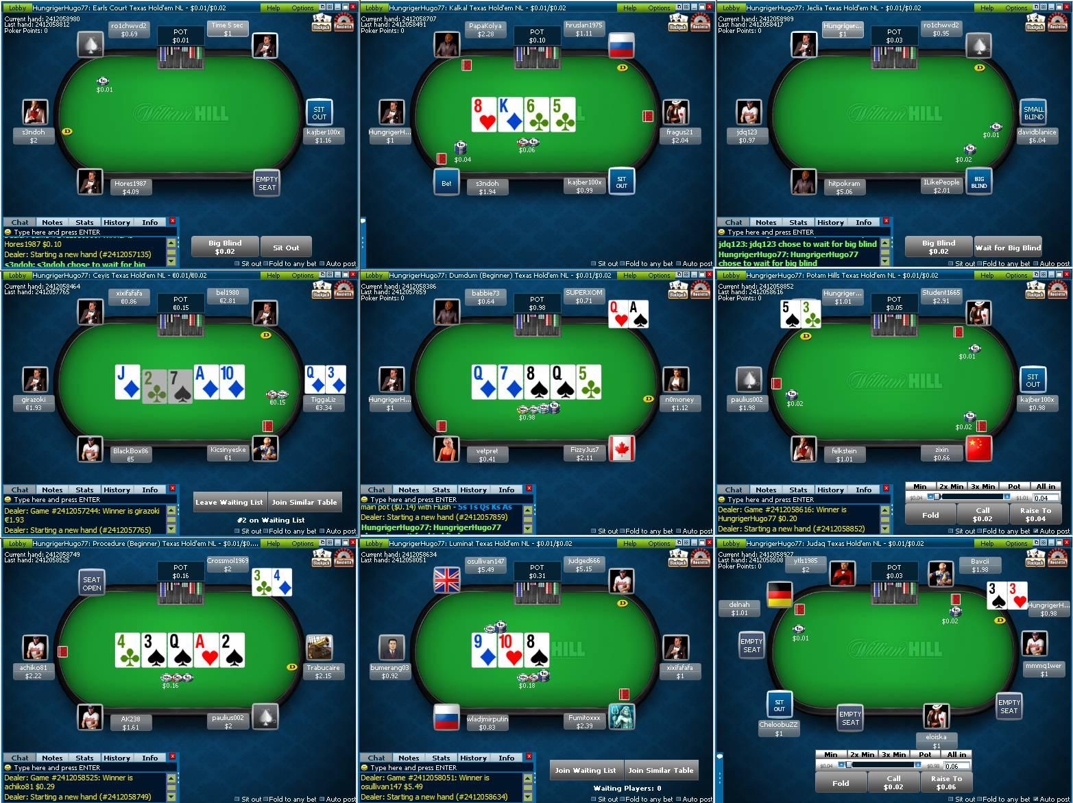 William Hill: $10 pro každého hráče zdarma! - POKERživě